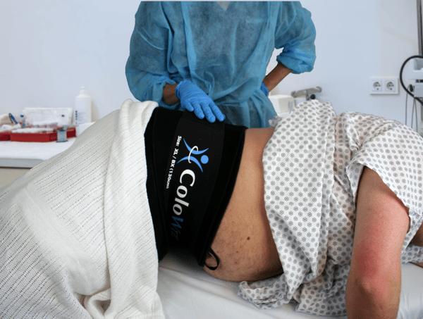 ColoWrap eliminates abdominal pressure