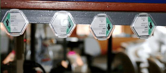 Dosimeter badges