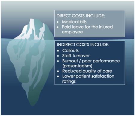 Costs of nurse injury
