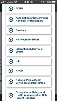 Safe Patient Handling app resources