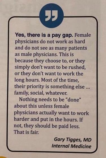 Gary Tigges' pay gap response