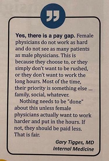 Gary Tigges' pay gap response